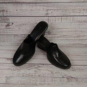 Nine West Black Slip On Closed Toe Wedge Size 6M